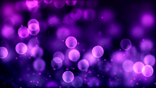 4k Purple abstract bokeh particle background. 30 seconds seamless loop. have another color. check my page video