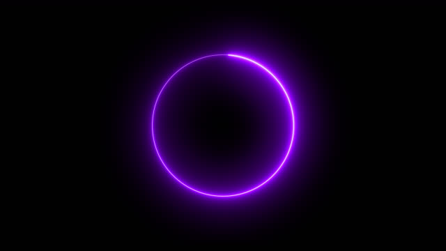4k Purple Neon Circle lights background