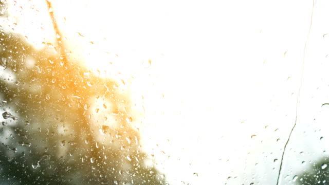 4k rain drop on mirror background video