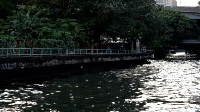 4k realtime video of Chao Phraya river in Bangkok from popular transportation Chao Phraya Express boat video