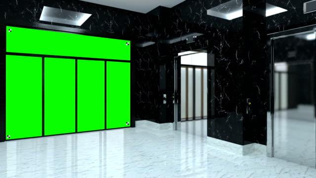 4k. reception  in hotel lobby. - hotel reception filmów i materiałów b-roll