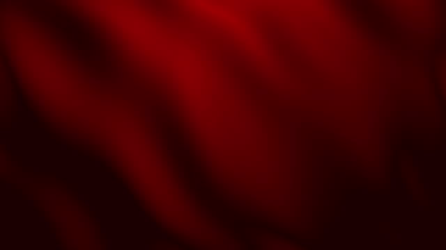 4k Red Fabric Wave Animation Background Seamless Loop. video