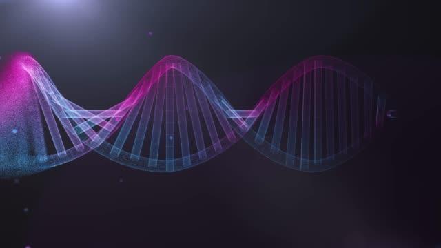 vídeos de stock, filmes e b-roll de 4 resolução k movimento digital dna futurista, abstrato para ciência e tecnologia - dna