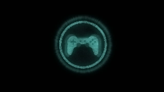 4k resolution futuristic design Game icon on black alpha layer,Internet of things concept