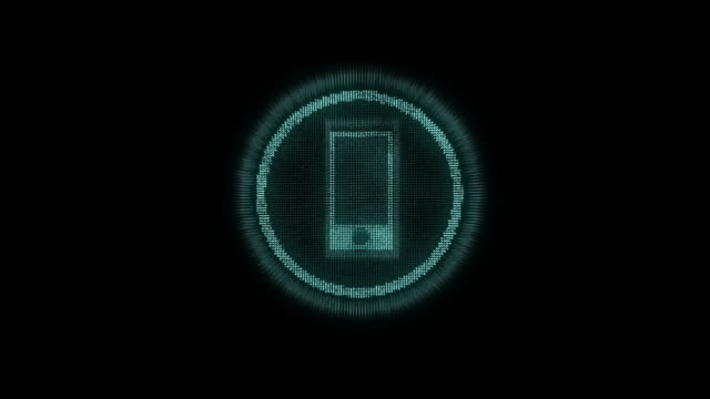 4k resolution futuristic design Smart phone icon on black alpha layer,Internet of things concept