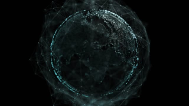 vidéos et rushes de résolution 4k couche alpha de réseau global sur le dos, fond abstrait numérique futuriste pour les entreprises et la technologie - épingle