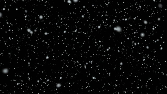 4k resolution particle abstract background of snowfall alpha layer on back - śnieg filmów i materiałów b-roll