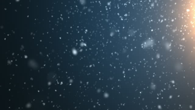 4k resolution particle abstract background of snowfall - śnieg filmów i materiałów b-roll