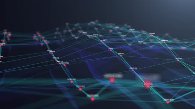 4k разрешение технология абстрактный background.digital анализ данных. концепция подключения к сети. концепция больших данных. технологический футу - infographic стоковые видео и кадры b-roll