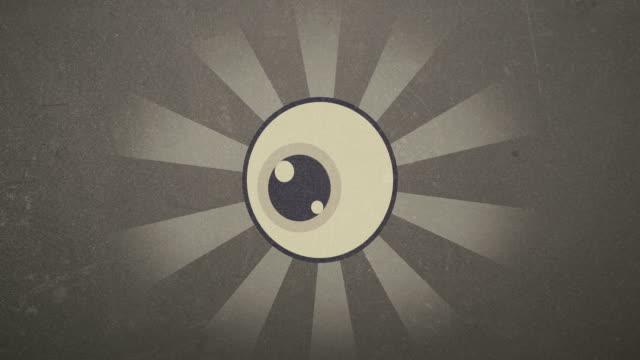 4k Retro Eye Rendered Animation Video in Vinatge Look video
