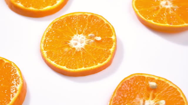 4k Rotate of slice orange pattern.