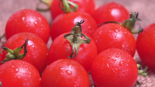 4k Rotate of tomato salad with water dew. 4k Rotate of tomato salad with water dew. tomato salad stock videos & royalty-free footage