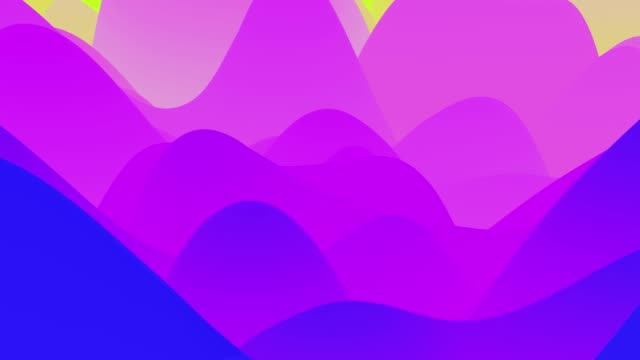 4k seamless loop with abstract fluid fiolet gradients, inner glow wavy surface. Beautiful color gradients as abstract liquid background, smooth animation. 3d in flat pleasant modern style video