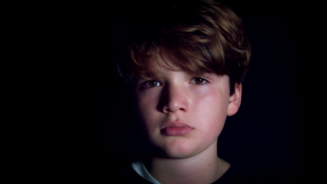 4k Shot of a Teen Boy Being Sad and Lost video