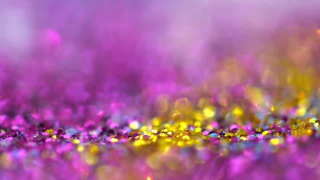 4 k küçük parçacıklar - bling bling stok videoları ve detay görüntü çekimi