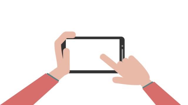 vídeos de stock e filmes b-roll de 4k social media icons set with hand clicking on the phone screen. - shop icon