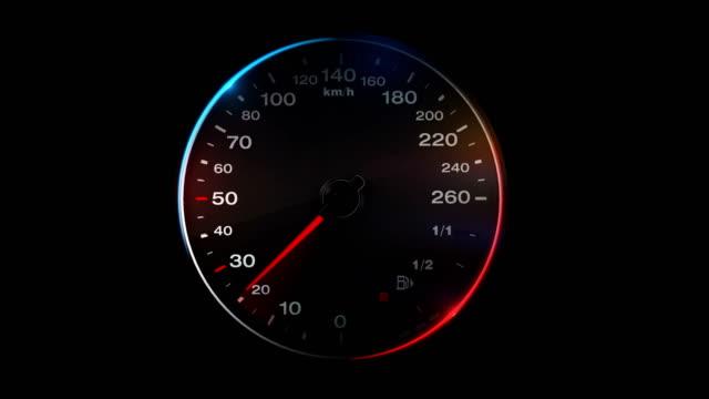 vidéos et rushes de 4 animation de compteur de vitesse k - cadran
