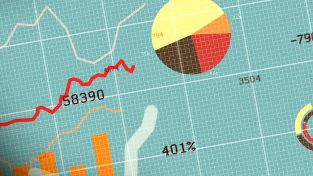 4k Stock Market Concept Moving Animation