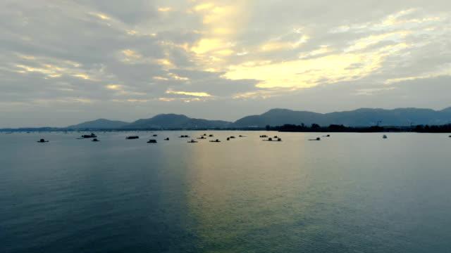 4k Sunset Drone shot, sea, cool filter, winter, cool filter