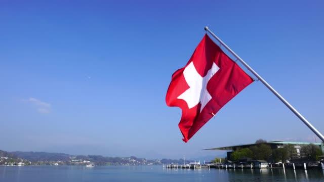 4k Swiss flag in Luzern