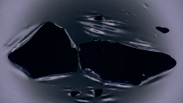 4k Tearing Silver Cloth Abstract Animation With Alpha Matte To