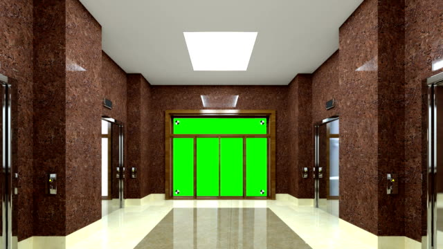 4k. the lobby at the hotel. chromakey. - hotel reception filmów i materiałów b-roll