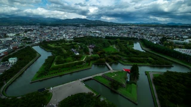 4k Time lapes : Top view Japan Hakodate Goryokaku