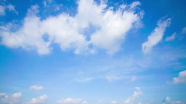 4k time lapse clear sky background with large cloud