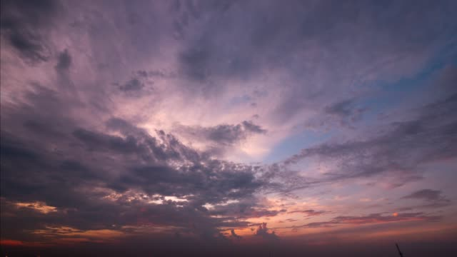 4k time lapse day to night Sunset Sky Background in summer