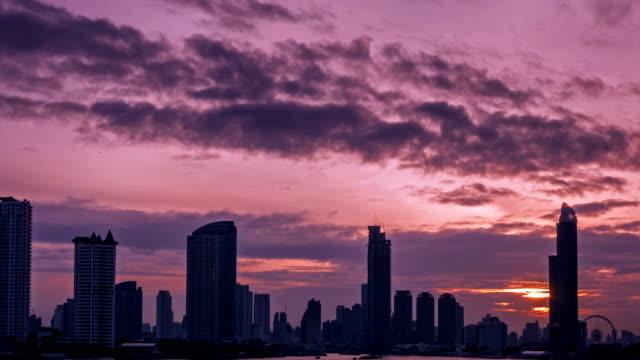 4k time lapse, Dramatic sky over Bangkok Metropolis at dusk 4k time lapse, Dramatic sky over Bangkok Metropolis at dusk pink color stock videos & royalty-free footage