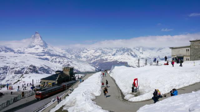 stockvideo's en b-roll-footage met 4k time lapse matterhorn, zermatt, zwitserland - zermatt