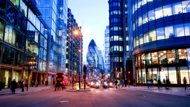 4k time lapse movement of business people in office building zone, london, england - london architecture stock videos & royalty-free footage