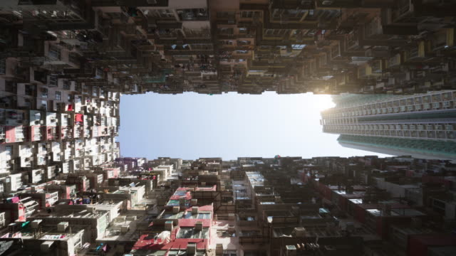 4k time lapse of apartment building at Quarry Bay Street in Hongkong video