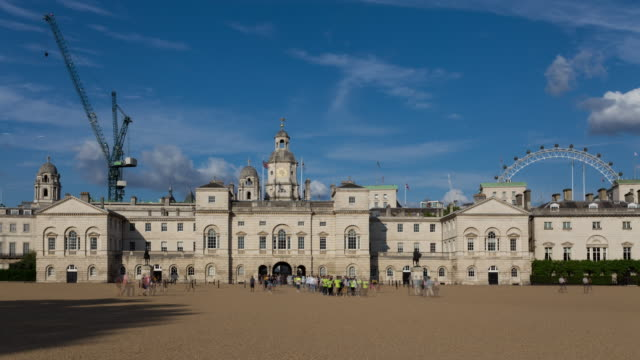 4k Time Lapse Of Horse Guards Square In Westminster London