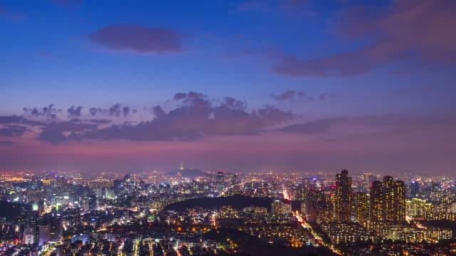 4k Time lapse of Seoul City Skyline,South Korea. 4k Time lapse of Seoul City Skyline,South Korea. namsan seoul stock videos & royalty-free footage