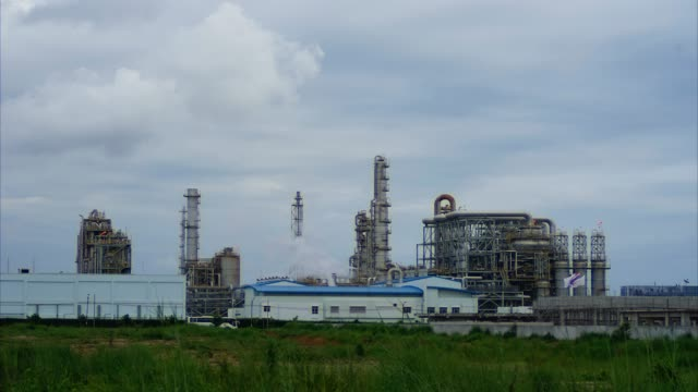 4k Time lapse Petrochemical industry - Oil refinery