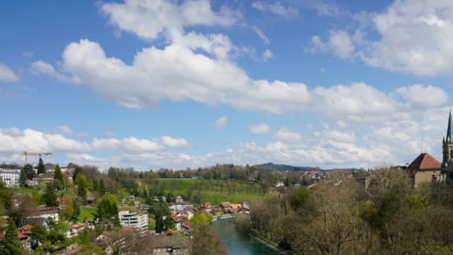 4k time lapse Rose garden and Bern city, Switzerland