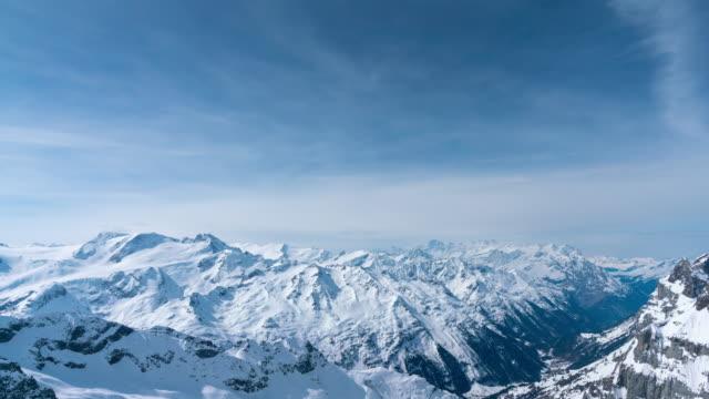 4k Time lapse Schilthorn mountain and Jungfrau, Switzerland – film