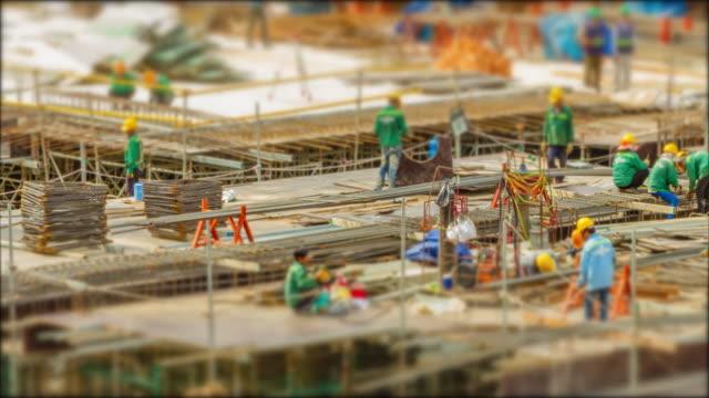 4k Time Lapse (4096x2160) :The construction site. (Apple ProRes 422 (HQ) format). video