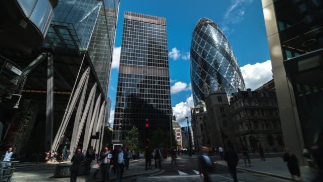 4k timelapes : office business building in london, england - london architecture stock videos & royalty-free footage