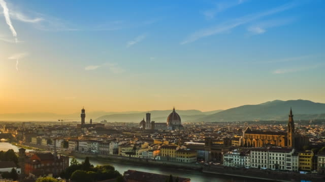 4k Timelapes : Sunset view of Ponte Vecchio, Florence, Italy video