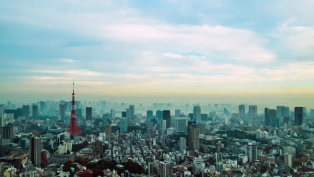 4k Time-lapse : Aerial view Tokyo tower Japan video