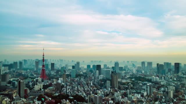 4 k コマ: 空撮東京タワー日本 - 東京タワー点の映像素材/bロール