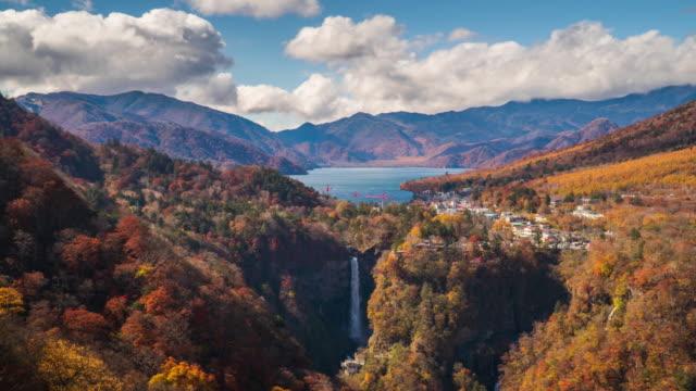 4k time-lapse på kegon falls i höstsäsongen, nikkō, japan. - high dynamic range imaging bildbanksvideor och videomaterial från bakom kulisserna