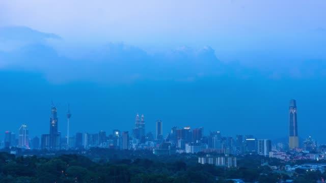4k time-lapse bilder av byggnad och stadsbild i kuala lumpur, malaysia - petronas twin towers bildbanksvideor och videomaterial från bakom kulisserna