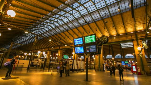 4k Time-lapse : Gare Du Nord train station, Paris video