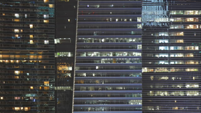 4k timelapse lighting on tower windows video