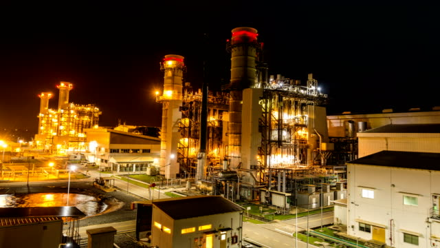 4k timelapse of combined cycle powerplant or fuel gas powerplant Timelapse of combined cycle powerplant or fuel gas powerplant electricity stock videos & royalty-free footage