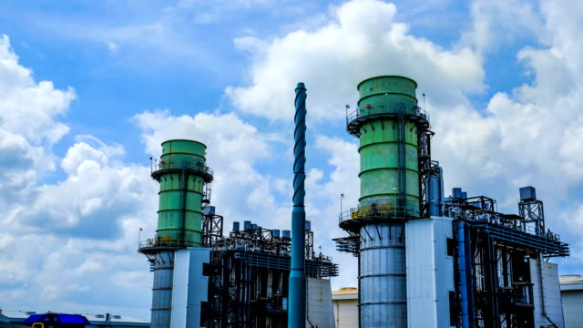 4k timelapse of combined cycle powerplant video
