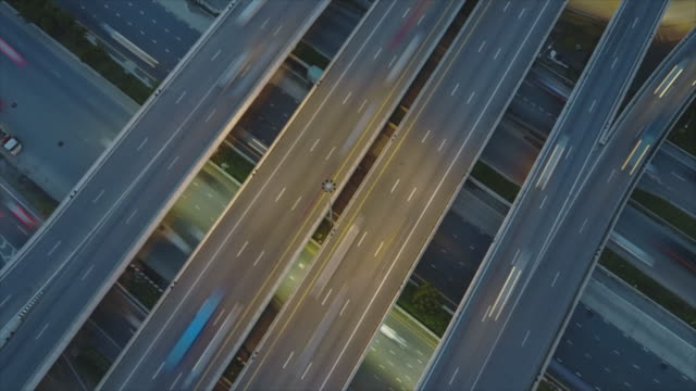 4k timelapse, time lapse of road intersection video